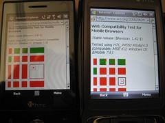 Web Browser Uji Kompatibilitas untuk Mobile pada perangkat HTC