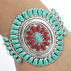 Fashion Cuff Bracelet: Zuni Inspired