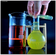 Science (A.Alwosaibie) Tags: red test reflection cup glass yellow nikon pipe science pregnant chemistry experience 1855mm 1001nights pipeline d60   blueribbonwinner  250ml  digitalcameraclub       abigfave  theunforgettablepictures    colourartaward  sciencechicago