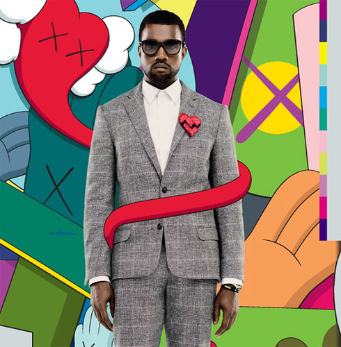 KAWS Kanye West - 808s & Heartbreak Album Cover