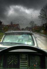 Rain drops keep falling on my van... (Uncle Berty) Tags: uk england rain vw drops falling keep dashboard van berty camper windscreen brill bucks hdr smalls t25 hp18 robfurminger