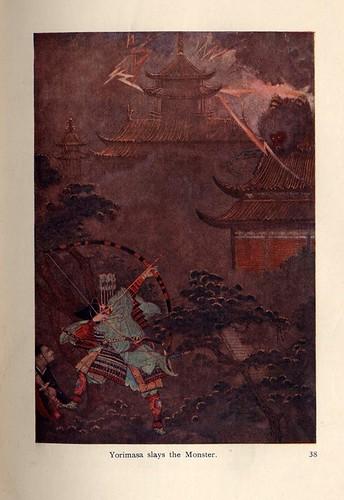 001-Mitos y Leyendas de Japon- Heroes y Guerreros- Yorimasa asaetea al monstruo-contraste corregido