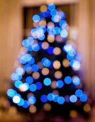 Out of Focus Christmas Tree (arkworld) Tags: christmas xmas blue holiday tree festive lights holidays bokeh christmastree outo
