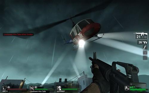 Left 4 Dead helicóptero