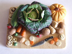 Large Vegetable Board 1:12th Scale