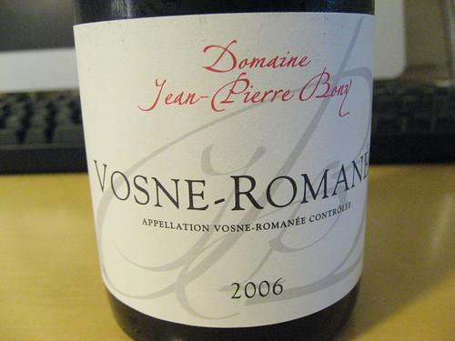 Domaine Jean-Pierre Bony VOSNE-ROMANEE 2006