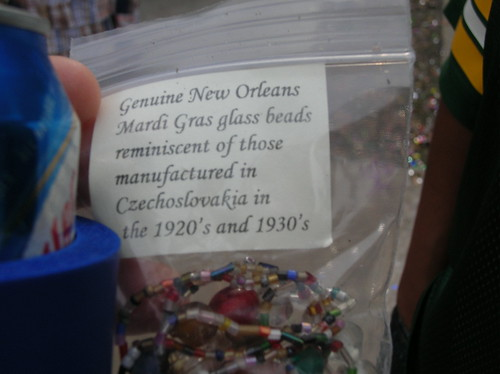 Glass beads in a bag
