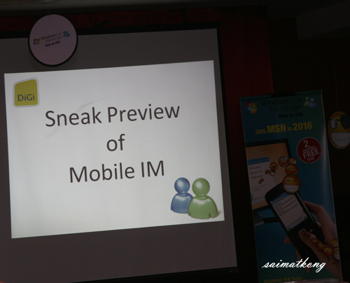 Sneak preview of the MSN launch by Digi