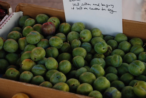 green gauge plums (first time I've seen these)