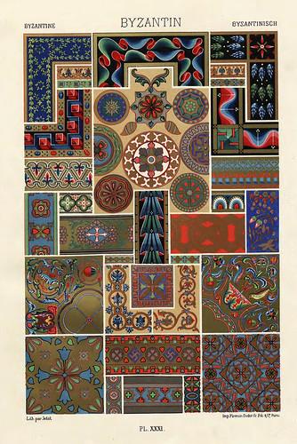 011-Ornamentos policromados bizantinos-Das polychrome Ornament…1875
