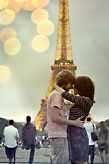 [explored!] (emmakatka) Tags: paris france tower love kiss kissing couple young eiffel