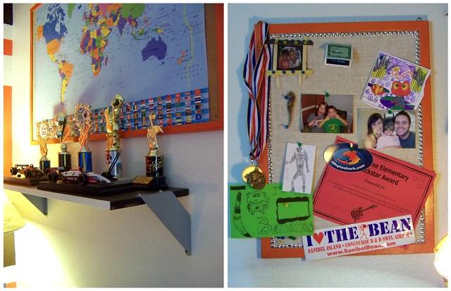 shelf and board