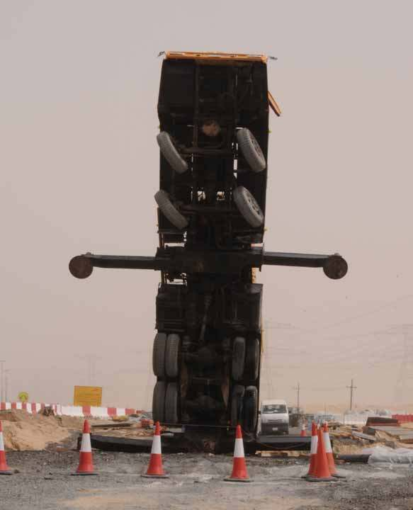 Dubai crane truck accident