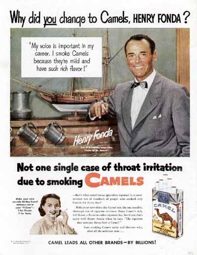 Henry Fonda pour Camel