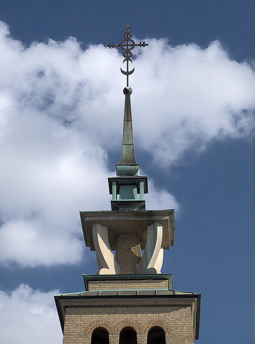 Immaculate Conception (Lithuanian) Roman Catholic Church, in East Saint Louis, Illinois, USA - spire
