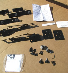 The Duracover tonneau comes with just a handful of parts.