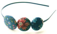 Blue Buttons Headband