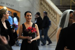 the kiss (nosha) Tags: nyc flowers wedding woman ny newyork beautiful beauty groom bride kiss grandcentralstation grandcentral weddingkiss nosha noshalikes