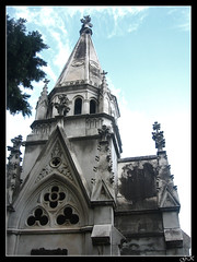 Towers (LordGK) Tags: light sky color building graveyard buenosaires cementerio tomb gothic recoleta melancholy