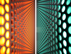 lines/dots (Hecyra) Tags: light orange portugal catchycolors cyan vivid led porto oma dots 2008 casadamusica pallini explored remk canoneos450d grigliato hecyracom lineeprospettiche schermature wwwhecyracom