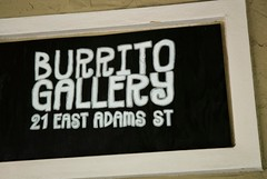 burrito gallery sign
