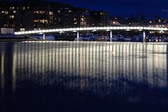 Blomsterbrua i Trondheim (Tor-Inge Langberg) Tags: city norway by norge norwegen noruega bluehour bro trondheim lys norvegia nidelva norvege bltimen nidelven bltime blomsterbrua