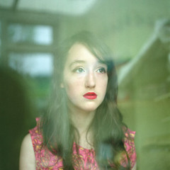 . (sweet distin) Tags: light portrait 120 film glass reflections hasselblad e redlipstick gaze hassy