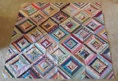 """Ugly Picnic Quilt"" top finished (WendysKnitch) Tags: quilt top foundation strings blocks piecing"