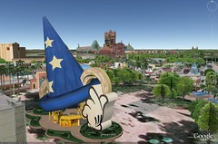 Disney Studios on Google Earth with 3D Buildings on.