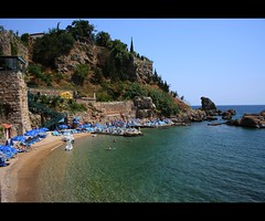 Mermerli beach (canmom ( Carrie )) Tags: holiday history beach canon turkey landscape eos 350d rebel xt landscapes sand trkiye antalya marble canoneos350d cubism canonefs1855mmf3556 platinumphoto mermerli turkiyeturchia canmom