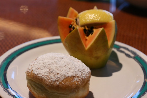 Papaya and Cream Donut