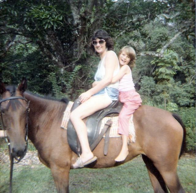 Me & Mum on a horse