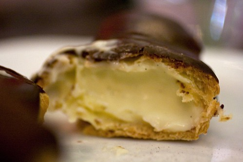 Innards of eclair