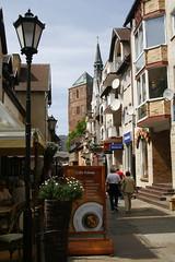 kolobrzeg (O'Bydalej) Tags: street city building brick architecture poland polska oldtown kolobrzeg koobrzeg cobbledstreet pomorze