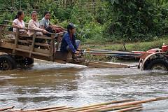 Vang Vien, Lao (tiyultiyul) Tags: water pool river boat fishing lao pdr countyside