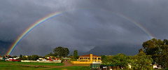 Rainbow Over Jamestown (Steve Crane) Tags: autostitch southafrica rainbow stellenbosch jamestown boland westerncape