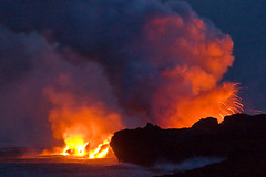 Bigger Big Island (konaboy) Tags: ocean volcano hawaii lava nightshot bigisland eruption kilauea 9327