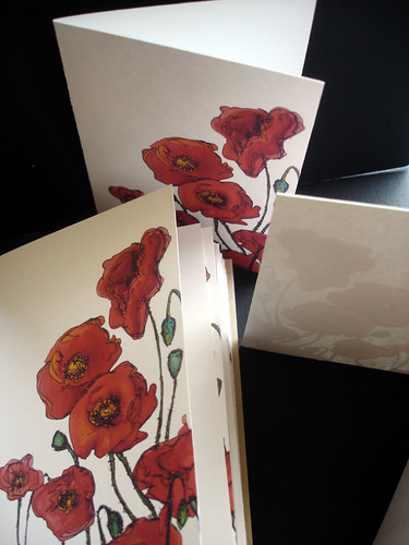 Set of Poppies Note Cards