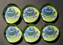 Ribbit - Glass Pebble Magnets (Daisy Mae Designs) Tags: green glass jump hand handmade earth craft frog made pebble toad daisy designs mae marble hop etsy crafty magnet leap rare ribbit daisymae neodymium ksickles