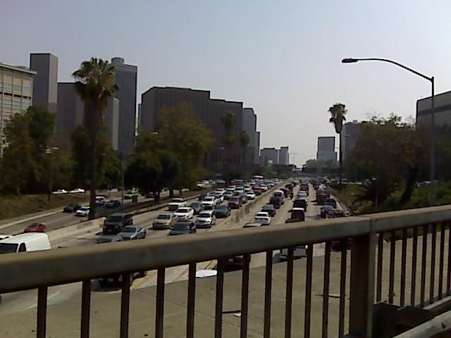 Stuck in LA rush hour by jackjbrandt