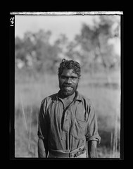 Neighbour (or Ngaller-iga), near Roper Bar, Northern Territory 1928 (National Museum of Australia) Tags: expedition 1928 nationalmuseum indigenous herbertbasedow