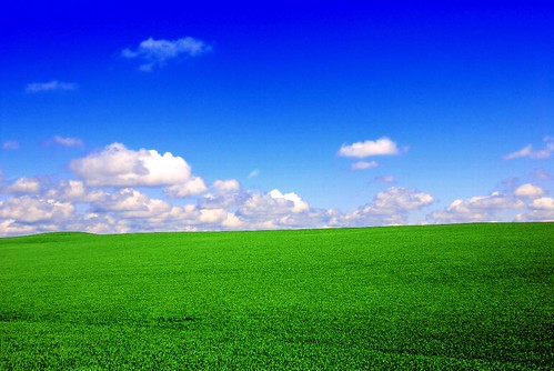 Sunset · Desktop wallpaper - Green Fields, Blue Skies