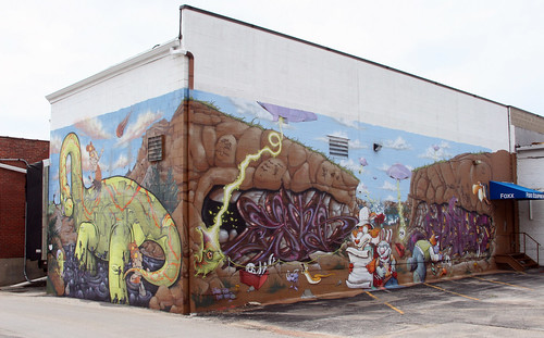 Foxx Equipment Mural - Dinosaurs and Cavemen - Full Mural