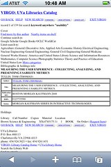 UVa Library - Virgo Catalog - item record (scrolled down)