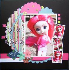 La vie en rose (Sofairy) Tags: scrapbooking doll pullip prima scrap cornice basicgrey obitsu junplanning americancraft loisircratif