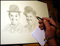 Laurel and Hardy 03..in progress (pbradyart) Tags: portrait art pencil movie artwork drawing laurelandhardy pencildrawing photorealism artcafe aworkofart 10faves impressedbeauty goldstaraward worldglobalaward globalworldawards