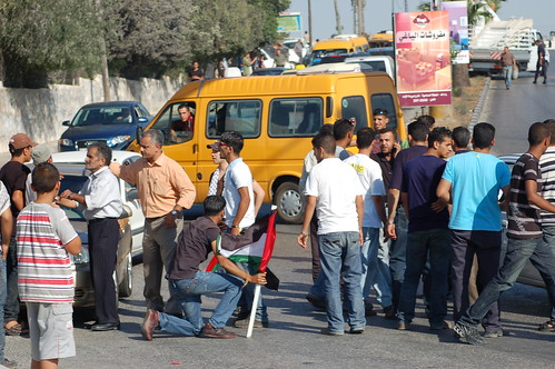 Waiting to get past the PA roadblock in Ramallah