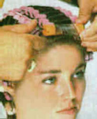 002 - Brown Pinks Brow (Sydney Michelle) Tags: pink brown set hair wind 1960s oranges brunette perm forehead rods sixties brow brownette