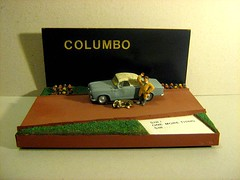 Scratch-Built 'Columbo' Peugeot 403 Car: Plastic Model Car By HELLER: Diorama - 10 of 10 (Kelvin64) Tags: show dog car tv cop series peugeot diorama columbo columbos lieutenent