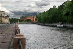 View of Mikhailovsky castle (dyadyavasya) Tags: city summer sky cloud building tree history water architecture river garden stpetersburg centre engineering quay fencing fontanka catsle                 5photosaday